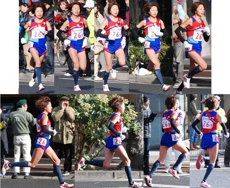 J女子駅伝2011:5第9区走者福士のフォーム