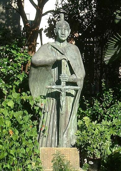 大阪・玉造教会2:キリシタン大名・高山右近像