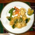 ブロッコリーとカリフラワーの天ぷら三色風味