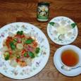 アーティチョークとバジルのトマトソースパスタ